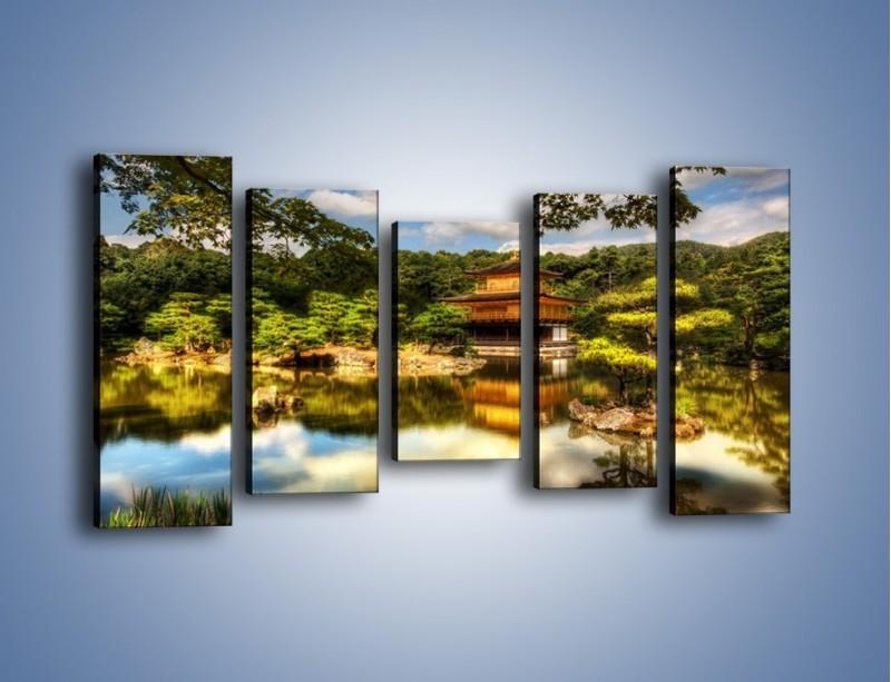 Obraz na płótnie – Widok z domu na wodę – pięcioczęściowy KN1030W2