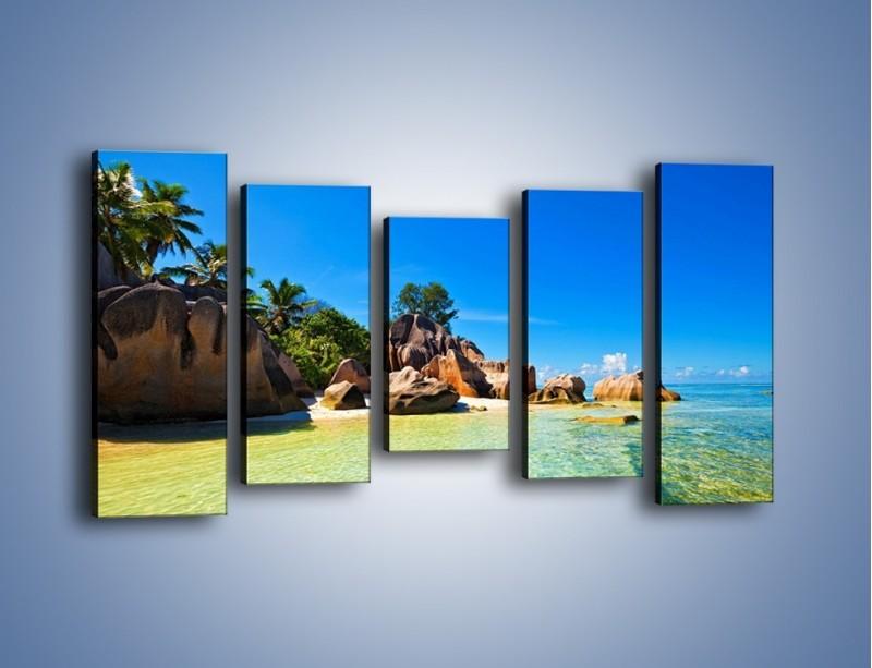 Obraz na płótnie – Bezludna wyspa i ja – pięcioczęściowy KN1058W2