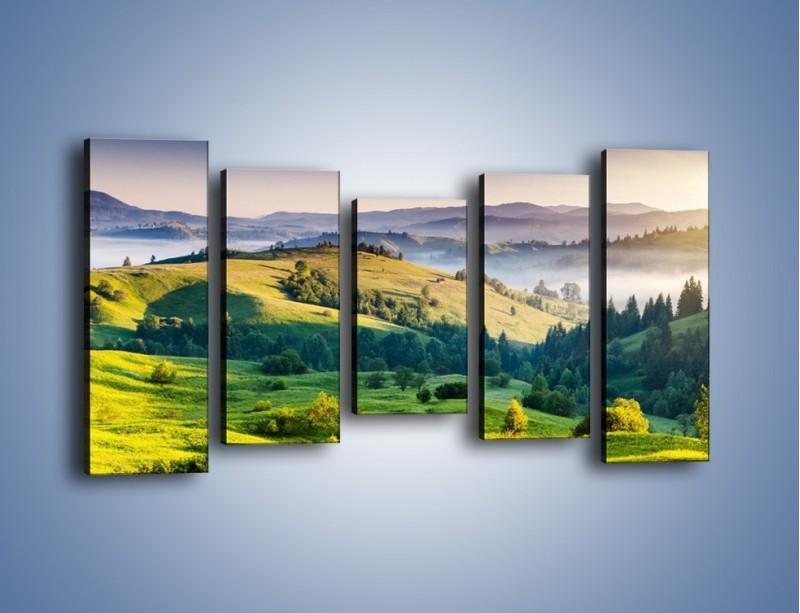 Obraz na płótnie – Tylko zieleń i góry – pięcioczęściowy KN1084W2