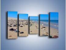 Obraz na płótnie – Całe morze kamyczków – pięcioczęściowy KN1086AW2