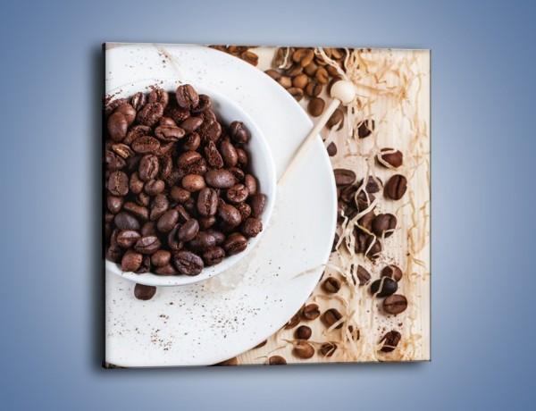 Obraz na płótnie – Kawa wśród beżu i bieli – jednoczęściowy kwadratowy JN718