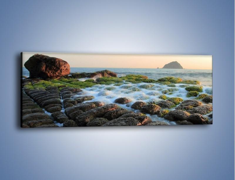 Obraz na płótnie – Ścisk wśród kamieni – jednoczęściowy panoramiczny KN1026