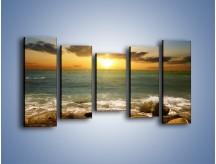 Obraz na płótnie – Brzegiem w stronę morza – pięcioczęściowy KN1092AW2