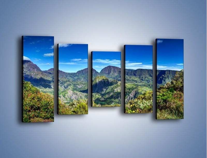 Obraz na płótnie – Zieleń ukryta wysoko w górach – pięcioczęściowy KN1106W2