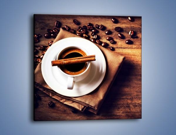 Obraz na płótnie – Trudne rozmowy przy kawie – jednoczęściowy kwadratowy JN719