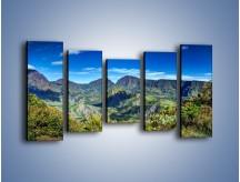 Obraz na płótnie – Cały góry pokryte zielenią – pięcioczęściowy KN1140AW2
