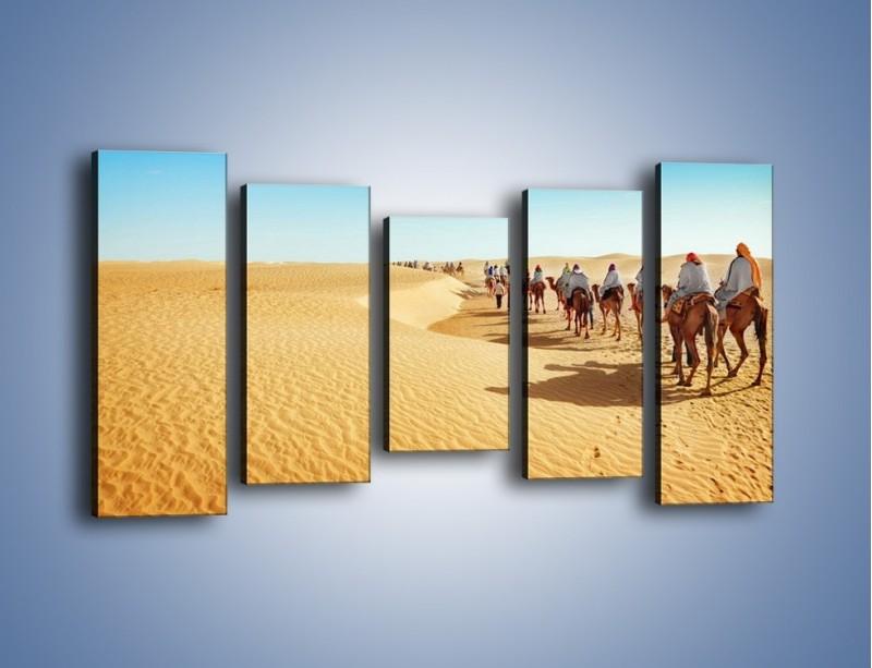Obraz na płótnie – Szła karawana przez pustynię – pięcioczęściowy KN1173AW2