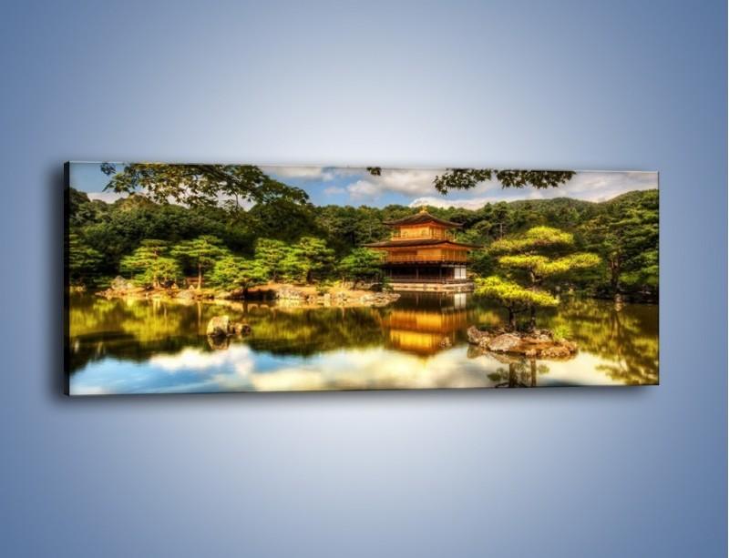 Obraz na płótnie – Widok z domu na wodę – jednoczęściowy panoramiczny KN1030