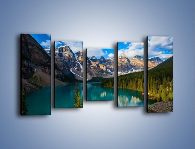 Obraz na płótnie – Spokój w górach – pięcioczęściowy KN1258AW2