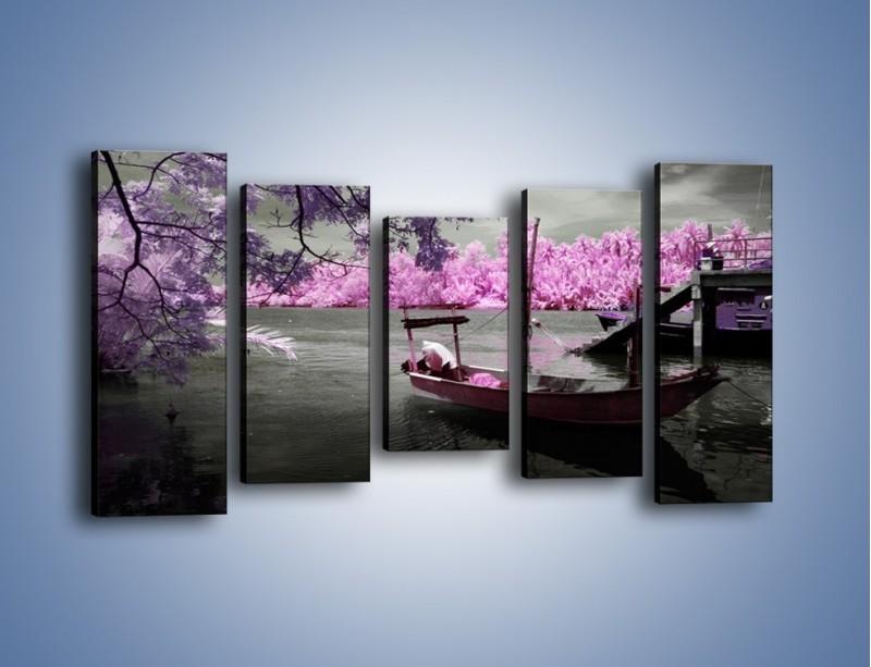 Obraz na płótnie – Krajobraz jak z japonii – pięcioczęściowy KN1277AW2