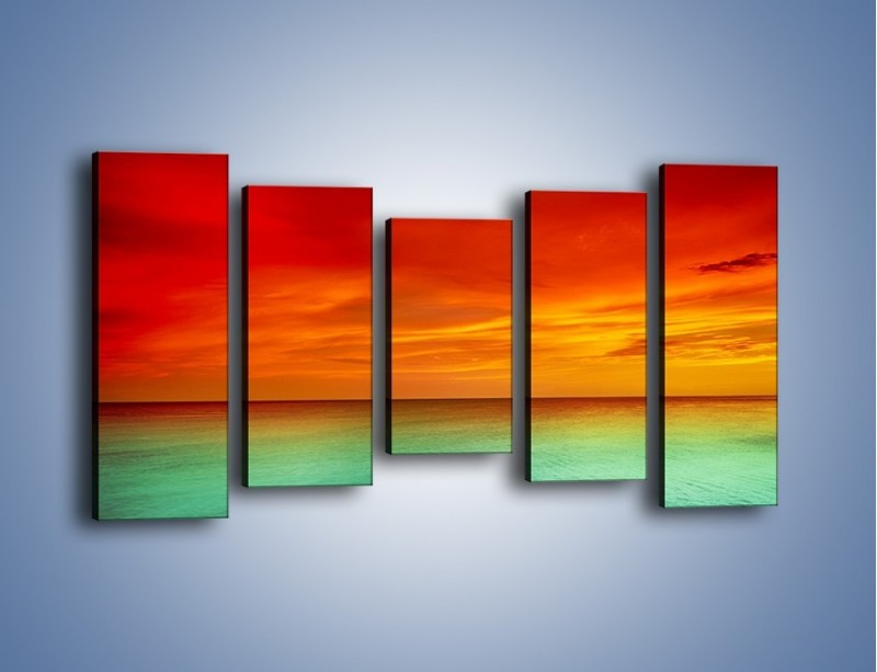 Obraz na płótnie – Horyzont w kolorach tęczy – pięcioczęściowy KN1303AW2
