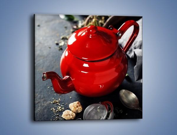 Obraz na płótnie – Malutki czajniczek do herbaty – jednoczęściowy kwadratowy JN722