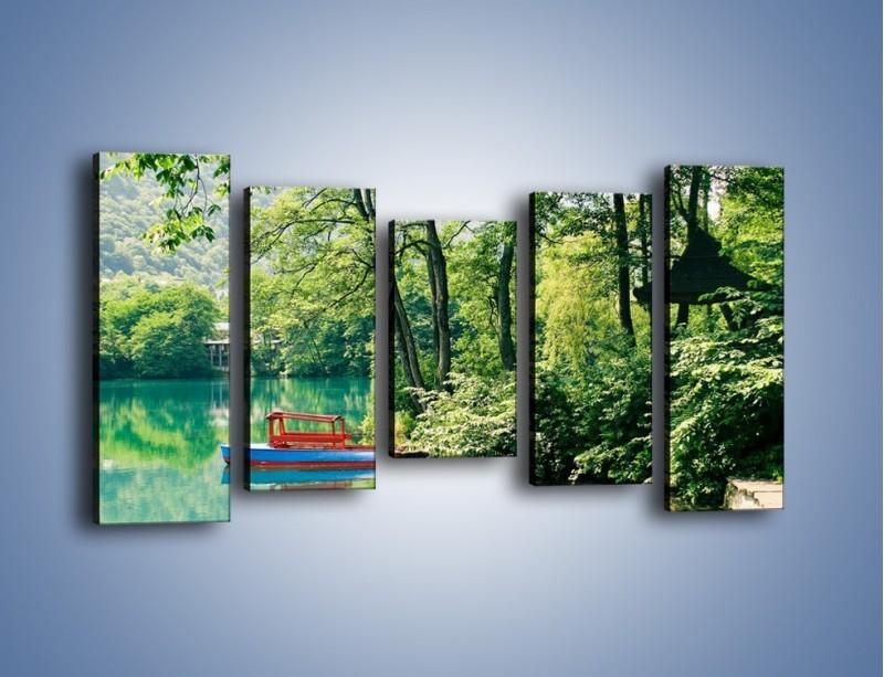 Obraz na płótnie – Wakacje nad jeziorem – pięcioczęściowy KN155W2