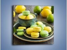Obraz na płótnie – Cytrynowo-limonkowe ciasteczka – jednoczęściowy kwadratowy JN724
