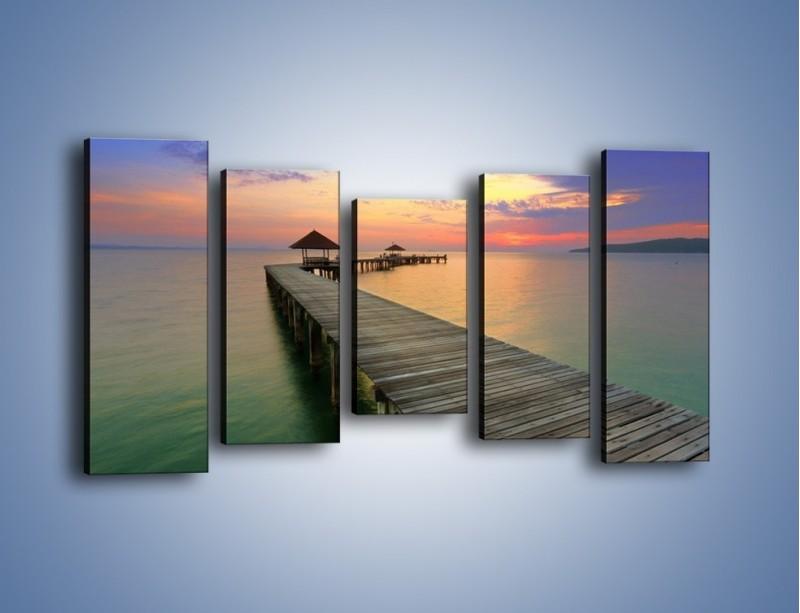 Obraz na płótnie – Krętym pomostem do morza – pięcioczęściowy KN327W2