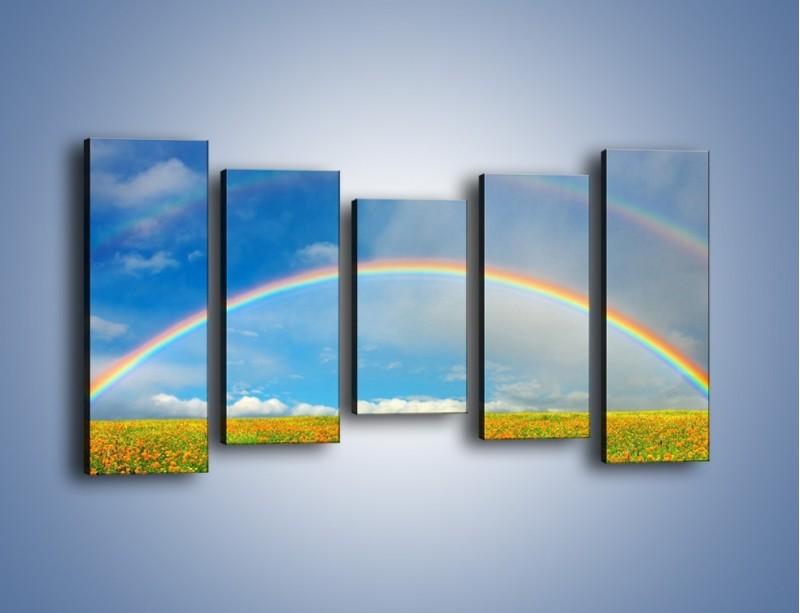 Obraz na płótnie – Urok kolorowej tęczy – pięcioczęściowy KN406W2