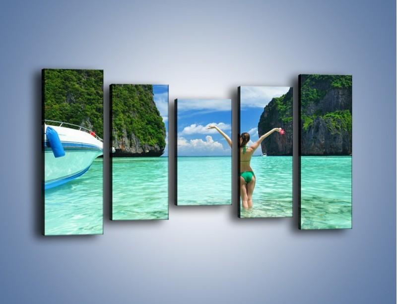 Obraz na płótnie – Udane wakacje w ciepłych krajach – pięcioczęściowy KN530W2