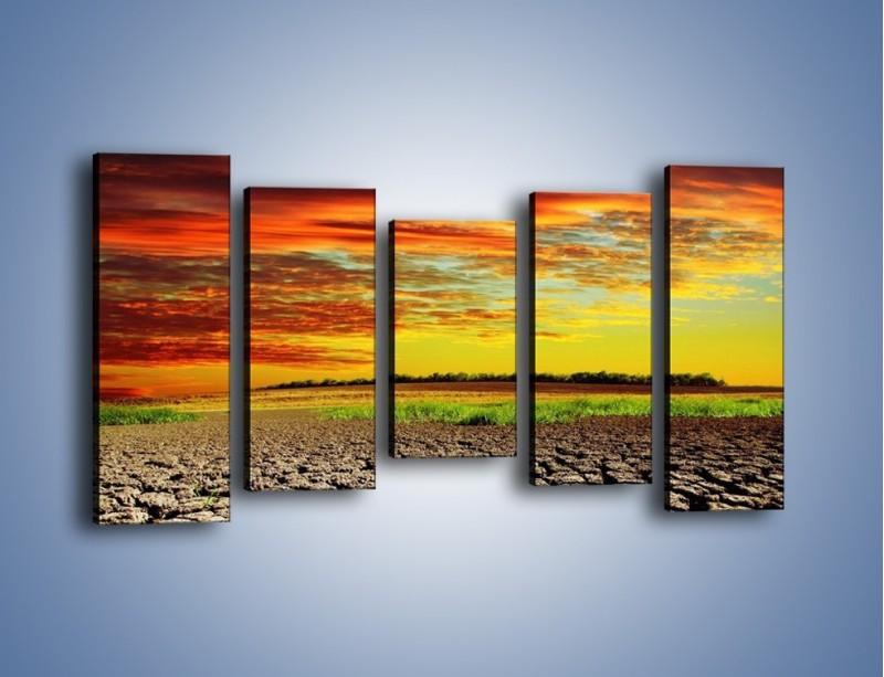 Obraz na płótnie – Spękane chmury i ziemia – pięcioczęściowy KN602W2