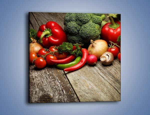 Obraz na płótnie – Warzywa w roli głównej – jednoczęściowy kwadratowy JN726