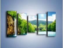 Obraz na płótnie – Cały urok górskich wodospadów – pięcioczęściowy KN769W2