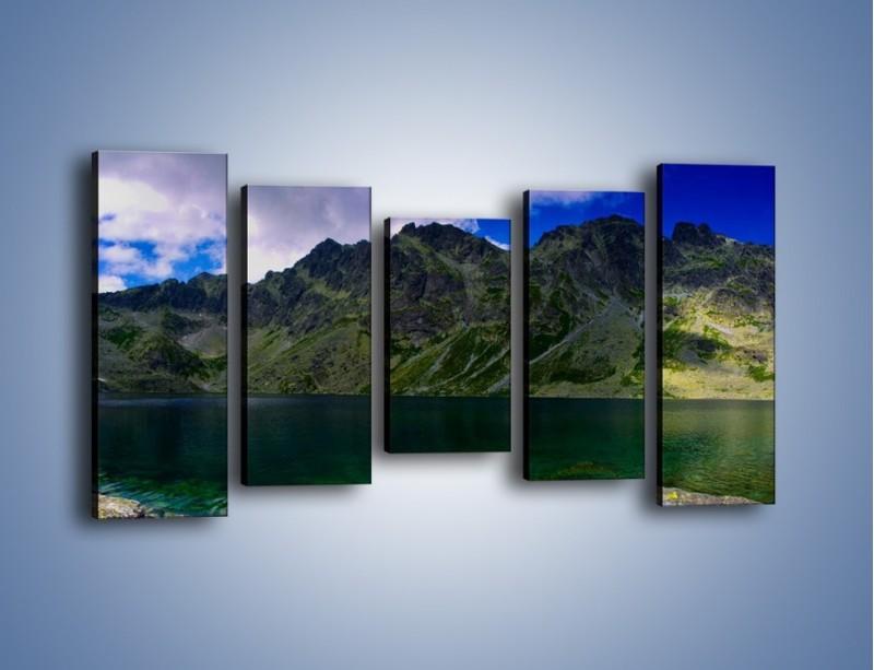Obraz na płótnie – Horyzont górskich szczytów – pięcioczęściowy KN856W2
