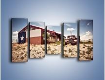 Obraz na płótnie – Autem przez texas – pięcioczęściowy KN874W2