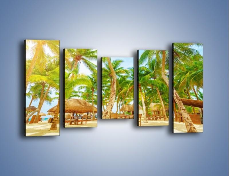 Obraz na płótnie – Słoneczna sjesta pod palmami – pięcioczęściowy KN886W2