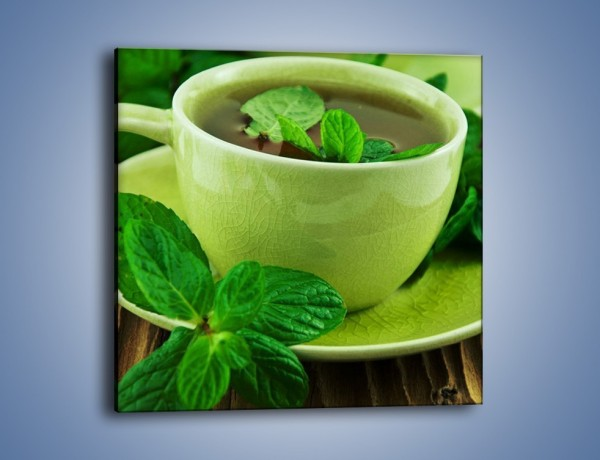 Obraz na płótnie – Zielona moc w herbacie – jednoczęściowy kwadratowy JN734