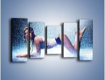 Obraz na płótnie – Ciało zmoczone deszczem – pięcioczęściowy L045W2