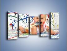 Obraz na płótnie – Chodź pomaluj mój świat – pięcioczęściowy L059W2