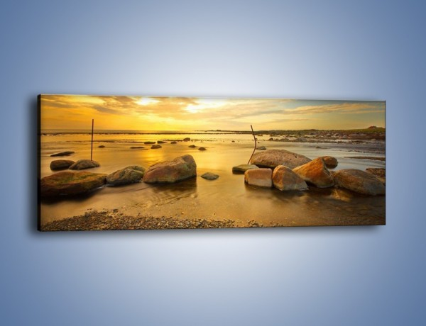 Obraz na płótnie – Kamienie duże i małe – jednoczęściowy panoramiczny KN1055