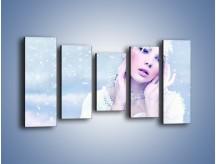 Obraz na płótnie – Delikatna królowa śniegu – pięcioczęściowy L224W2