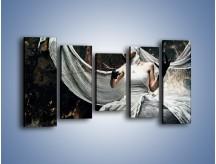 Obraz na płótnie – Dama w białych bandażach – pięcioczęściowy L278W2
