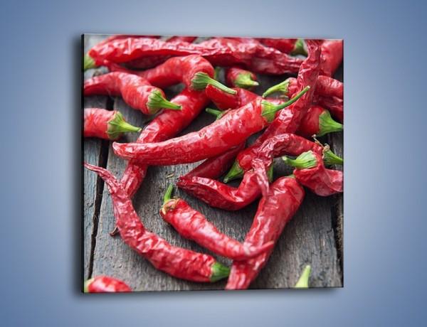 Obraz na płótnie – Rozsypane papryczki chili – jednoczęściowy kwadratowy JN739