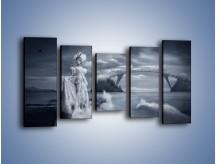 Obraz na płótnie – Dama w sepii – pięcioczęściowy L292W2