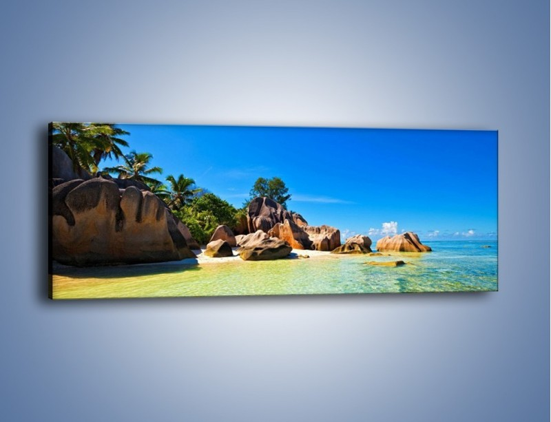 Obraz na płótnie – Bezludna wyspa i ja – jednoczęściowy panoramiczny KN1058