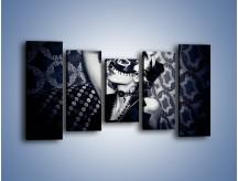 Obraz na płótnie – Czarno-biała dama – pięcioczęściowy L315W2