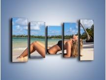 Obraz na płótnie – Czas rajskich plaży – pięcioczęściowy L316W2