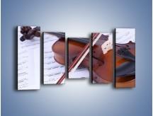Obraz na płótnie – Melodia grana na skrzypcach – pięcioczęściowy O003W2