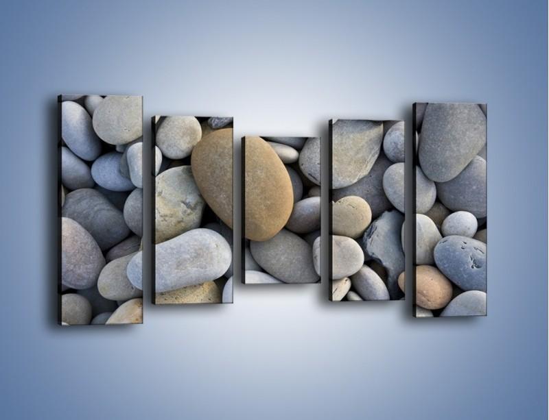 Obraz na płótnie – Kamienie duże i małe – pięcioczęściowy O006W2
