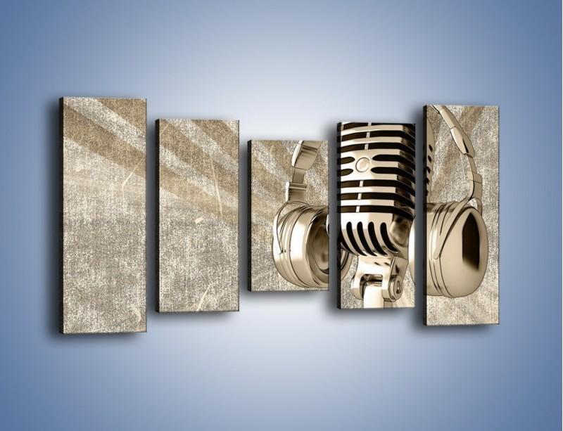 Obraz na płótnie – Głos w srebrnym mikrofonie – pięcioczęściowy O026W2