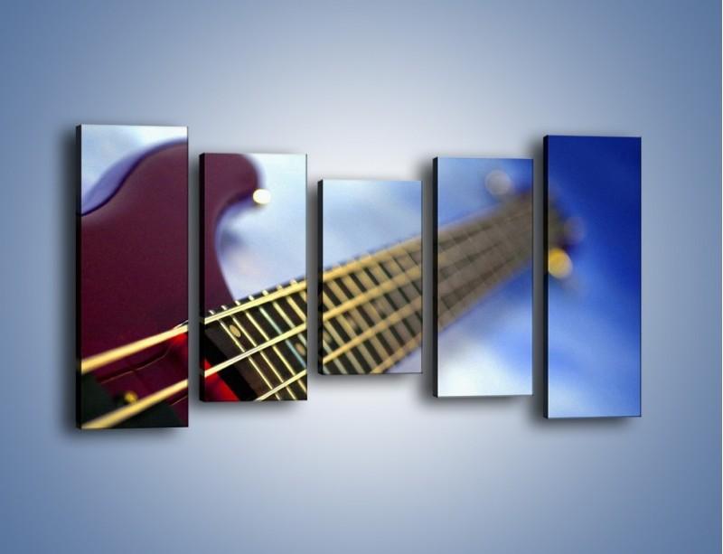 Obraz na płótnie – Gitara z bliska – pięcioczęściowy O088W2
