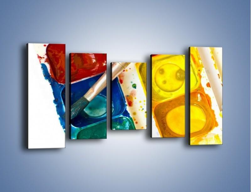 Obraz na płótnie – Kolorowy świat malowany farbami – pięcioczęściowy O116W2