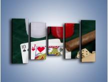 Obraz na płótnie – Męski świat hazardu – pięcioczęściowy O121W2