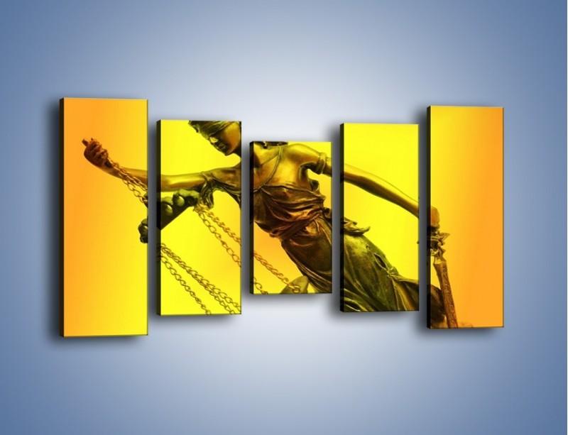 Obraz na płótnie – Figurka ważna w świecie prawa – pięcioczęściowy O164W2