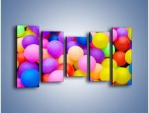 Obraz na płótnie – Basen z kolorowymi piłeczkami – pięcioczęściowy O208W2