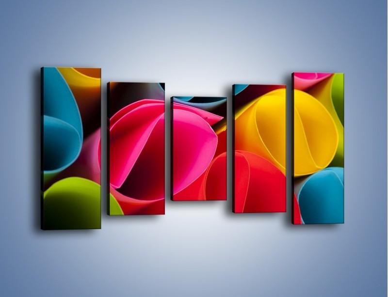 Obraz na płótnie – Kolorowe rulony – pięcioczęściowy O217W2