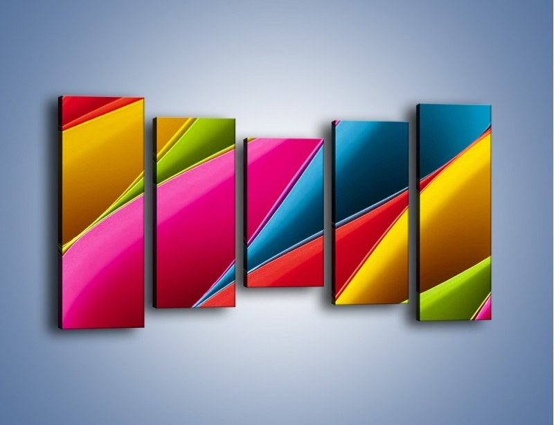 Obraz na płótnie – Idealna kolorowa kompozycja – pięcioczęściowy O219W2