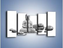 Obraz na płótnie – Budda wśród kamieni – pięcioczęściowy O229W2