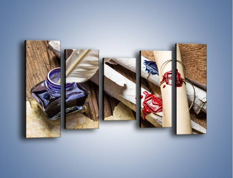 Obraz na płótnie – Listy zapieczętowane atramentem – pięcioczęściowy O234W2